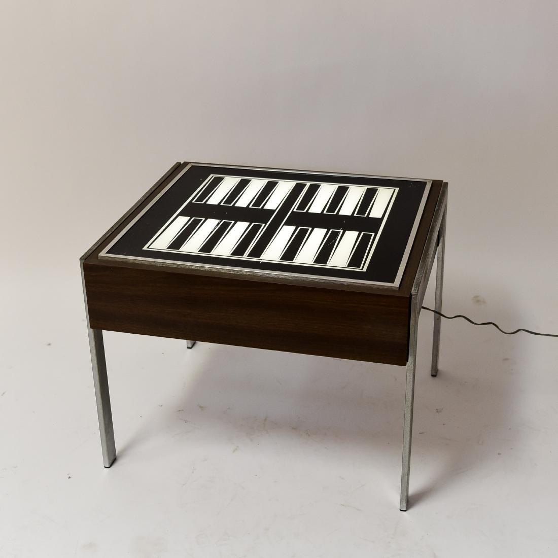 C. 1970S ILLUMINATED BACKGAMMON TABLE - 8