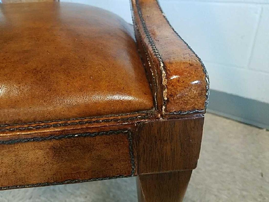 LEATHER CLAD CLAW FOOT SIDE CHAIR - 3