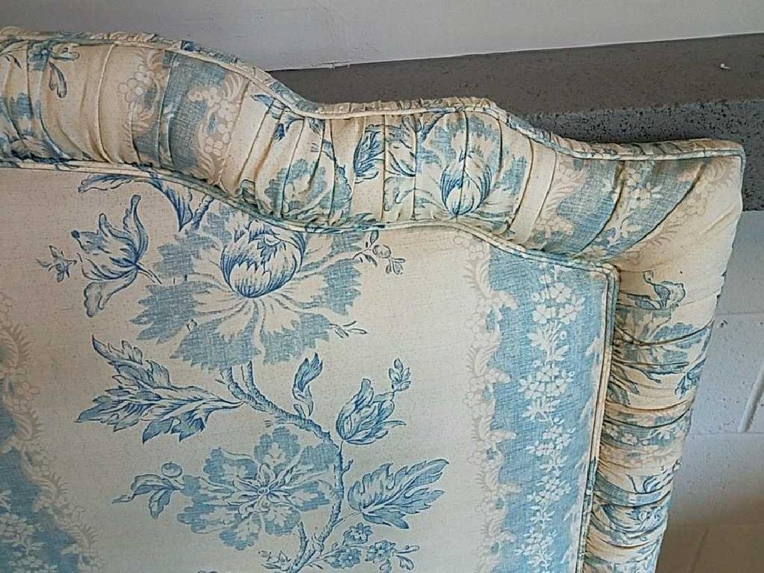 BLUE AND WHITE UPHOLSTERED HEADBOARD - 2