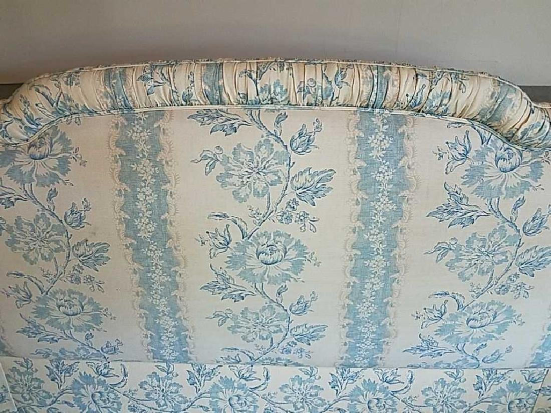 BLUE AND WHITE UPHOLSTERED HEADBOARD - 3