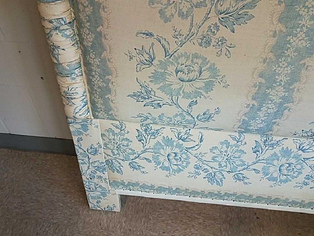BLUE AND WHITE UPHOLSTERED HEADBOARD - 4