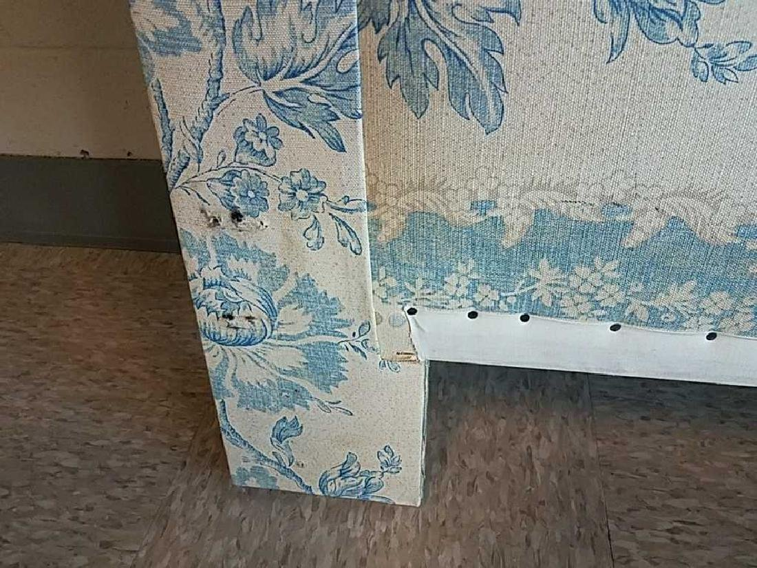 BLUE AND WHITE UPHOLSTERED HEADBOARD - 5