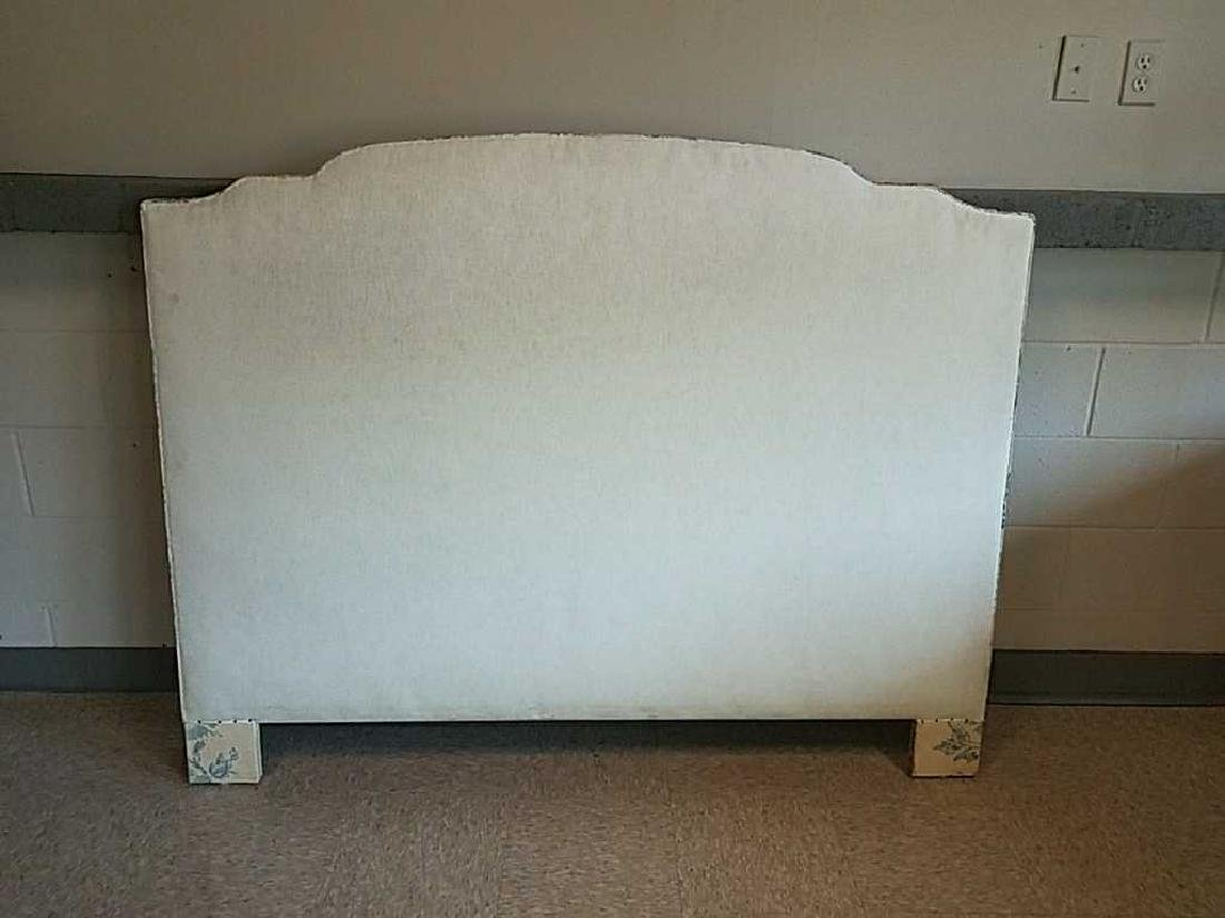 BLUE AND WHITE UPHOLSTERED HEADBOARD - 6