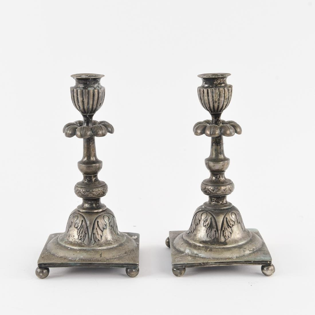 PAIR OF SILVER CANDLE STICKS