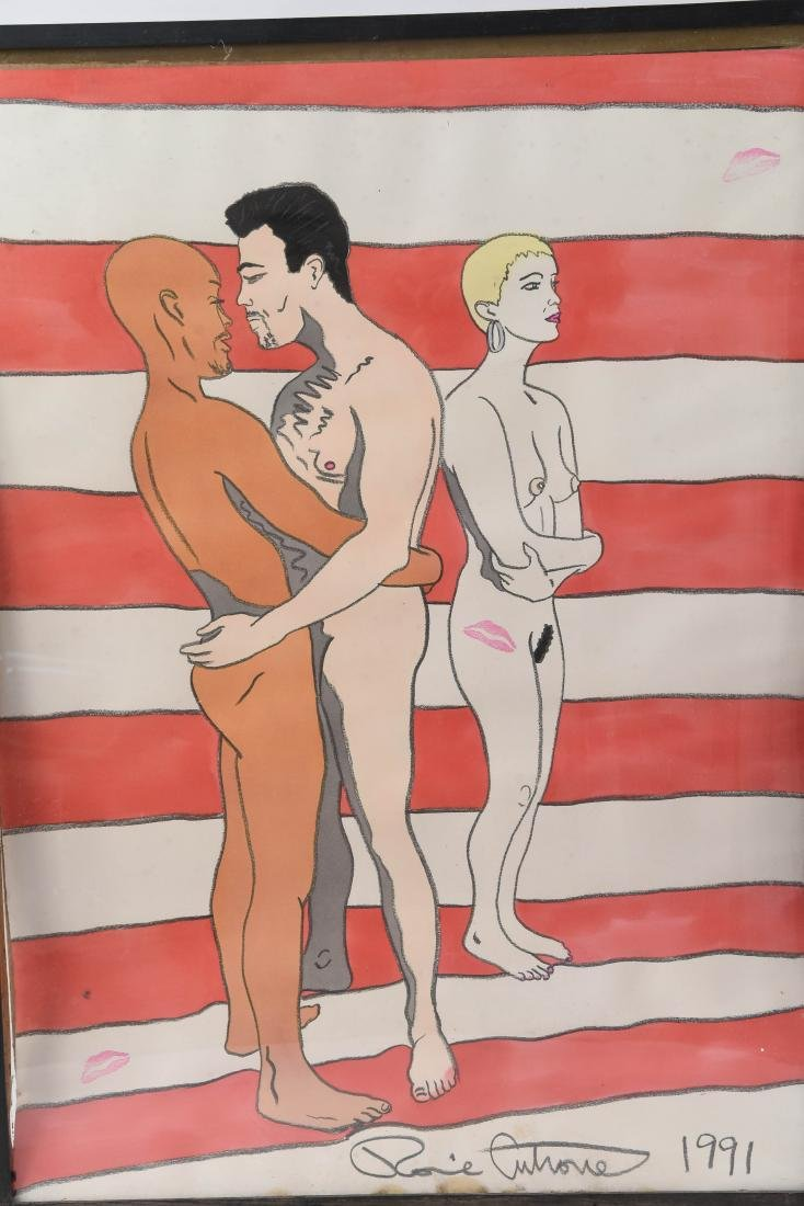 (2) RONNIE CUTRONE (AMERICAN 1948 -2013) PAINTINGS - 2