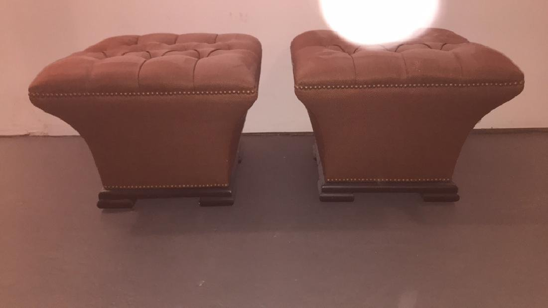 PAIR OF BAKER TUFTED OTTOMANS