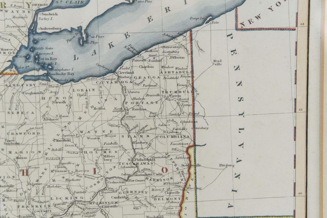 MAP OF INDIANA AND OHIO C. 1830 - 4