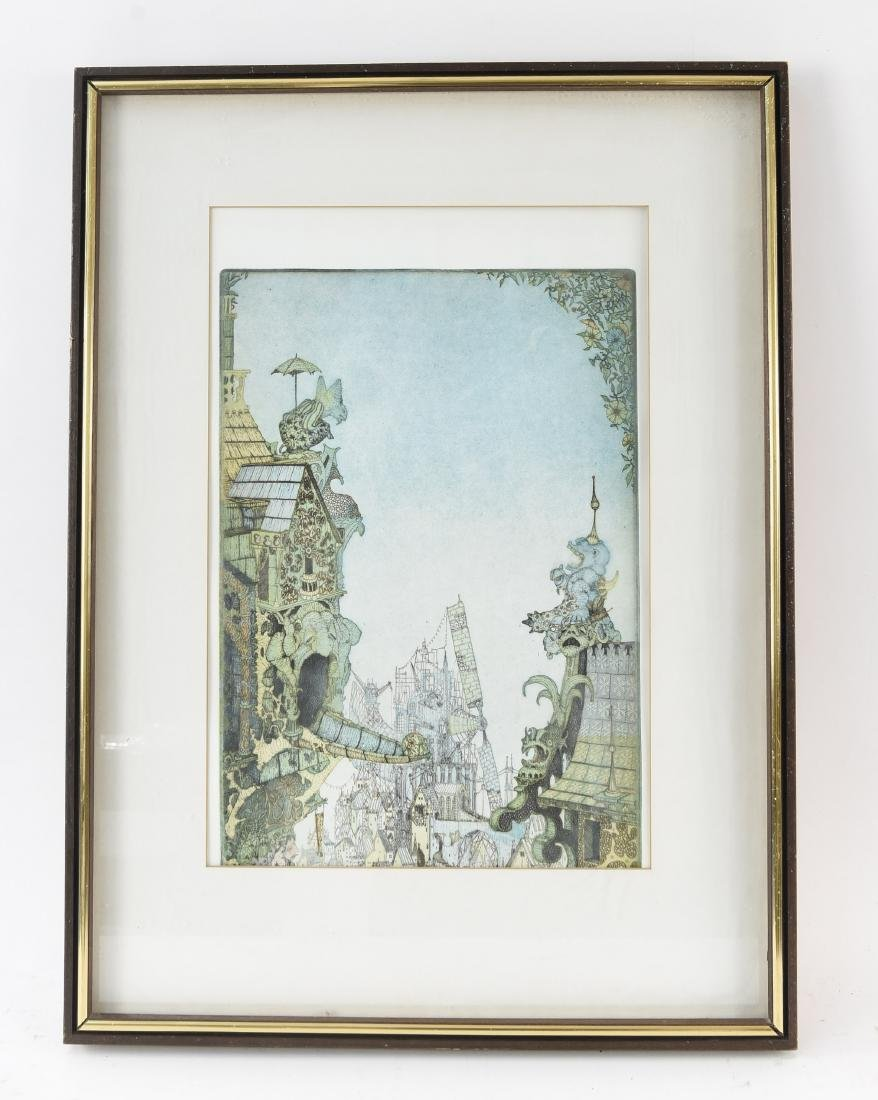 CHARLES KLABUNDE 1970S ORIGINAL COLOR ETCHING