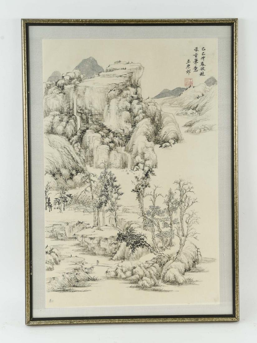 20TH CENTURY CHINESE INK AND WASH