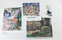 GROUPING OF 4 POSTERS INCL CHAGALL  LEGER