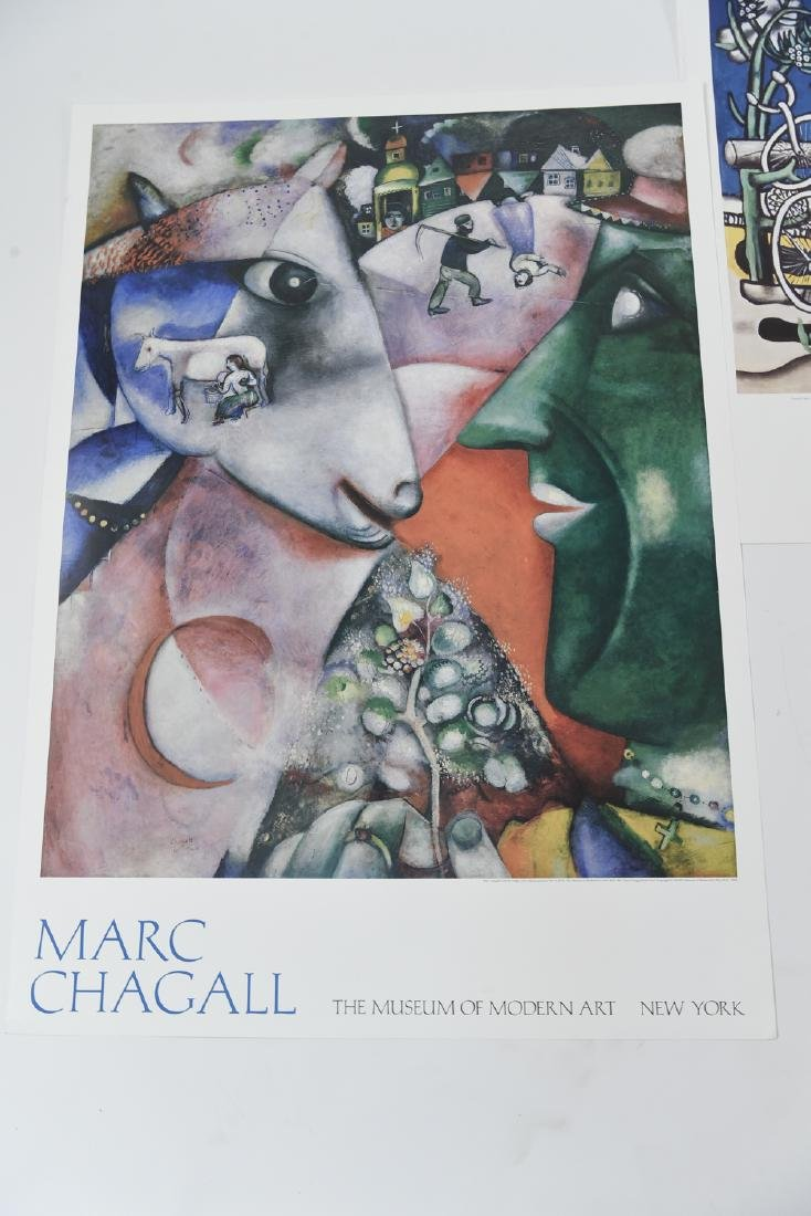 GROUPING OF (4) POSTERS INCL. CHAGALL & LEGER - 2