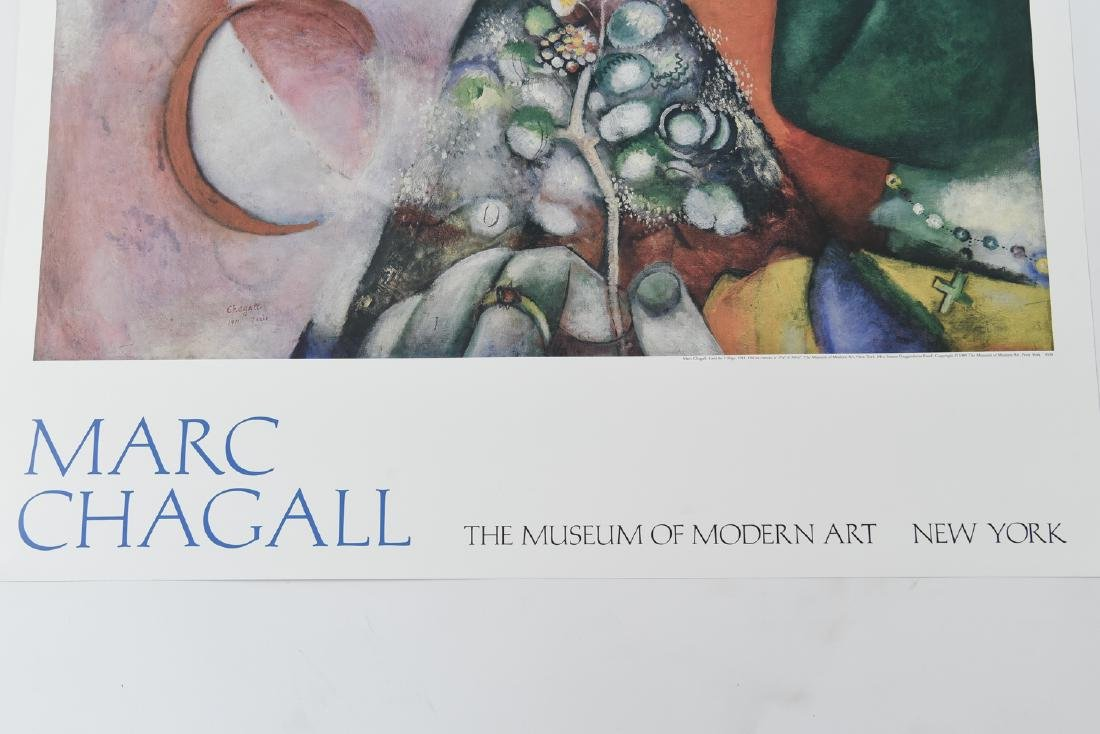 GROUPING OF (4) POSTERS INCL. CHAGALL & LEGER - 4