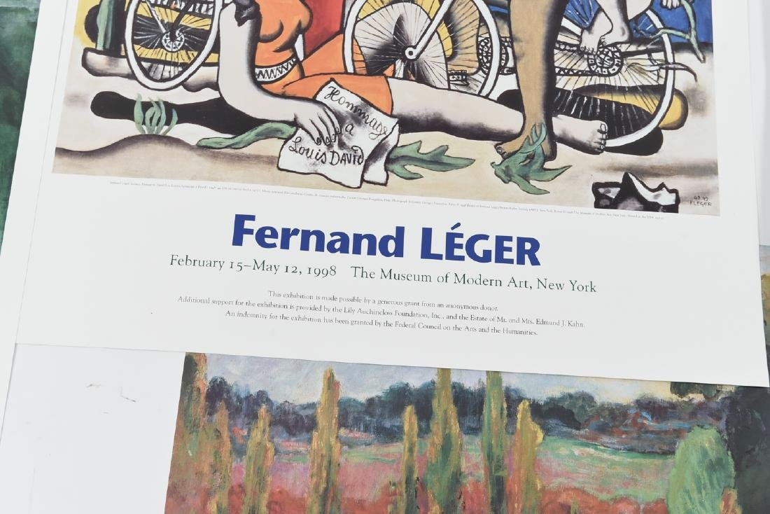 GROUPING OF (4) POSTERS INCL. CHAGALL & LEGER - 5