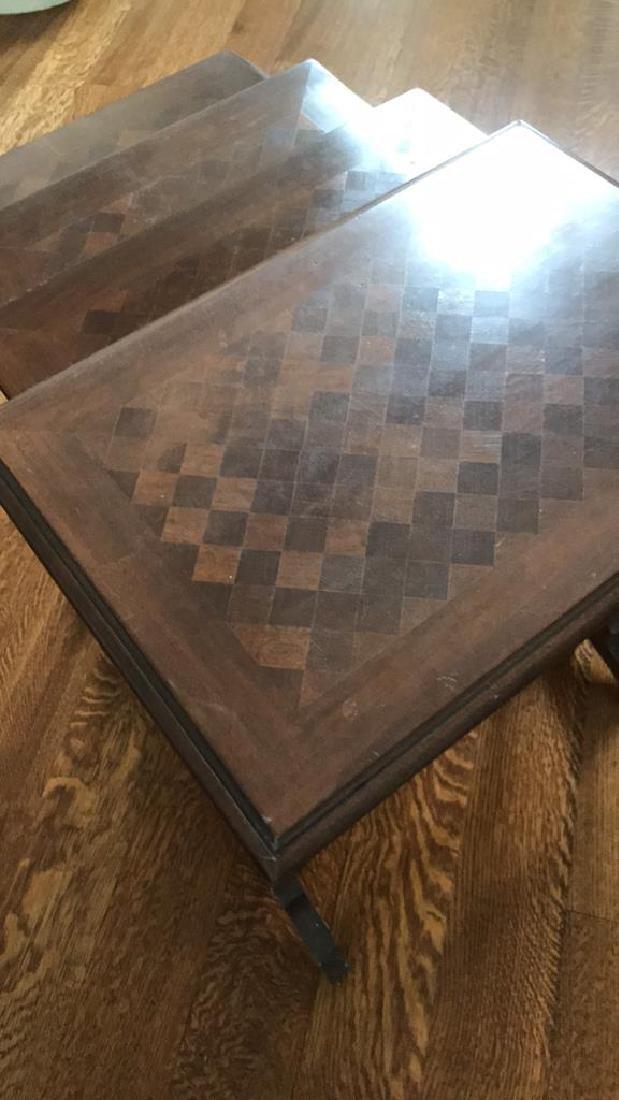 PARQUET INLAID NESTING TABLES - 3