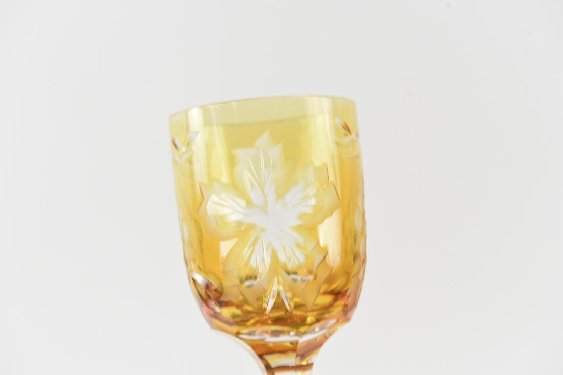 HUNGARIAN HAND CUT CRYSTAL CORDIAL GOBLETS - 10