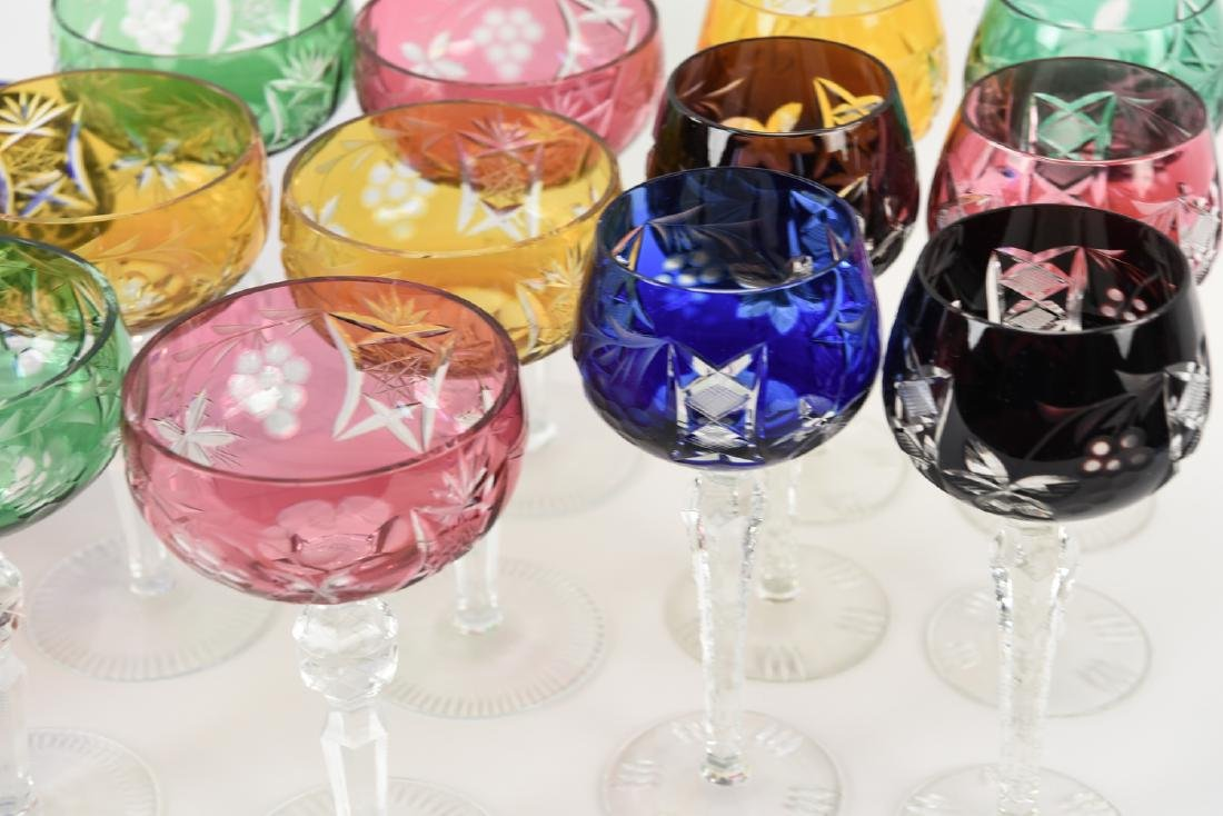 COLORFUL CUT CRYSTAL STEMWARE GLASSES - 2