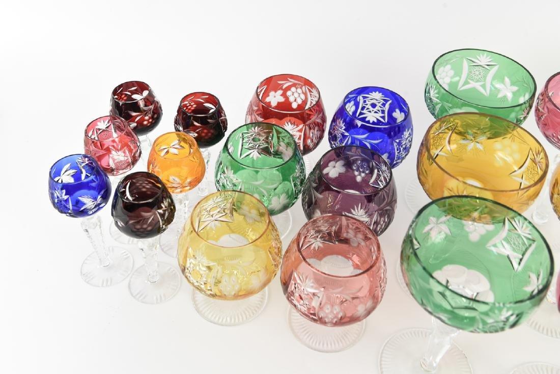 COLORFUL CUT CRYSTAL STEMWARE GLASSES - 4