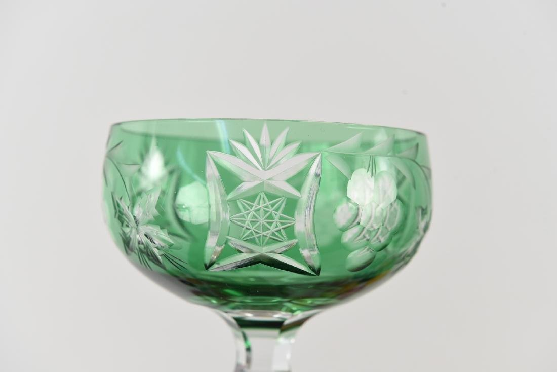 COLORFUL CUT CRYSTAL STEMWARE GLASSES - 7