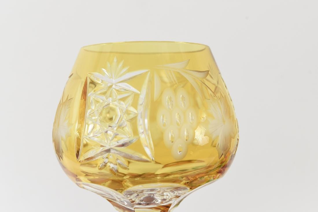 COLORFUL CUT CRYSTAL STEMWARE GLASSES - 9