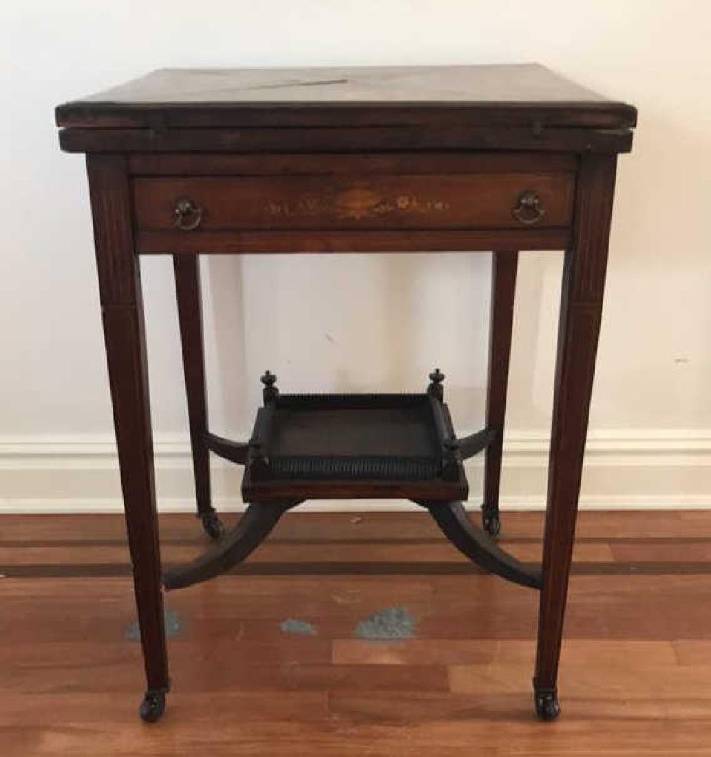 ANTIQUE FLIP TOP GAMING TABLE - 2