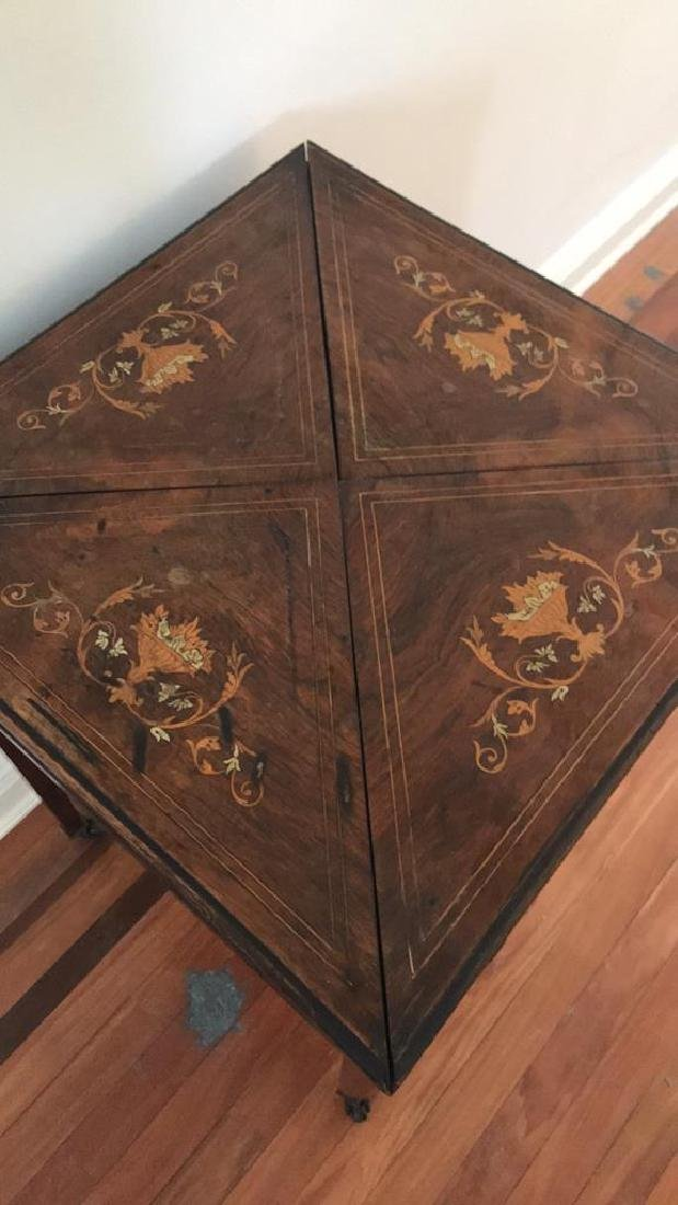ANTIQUE FLIP TOP GAMING TABLE - 5
