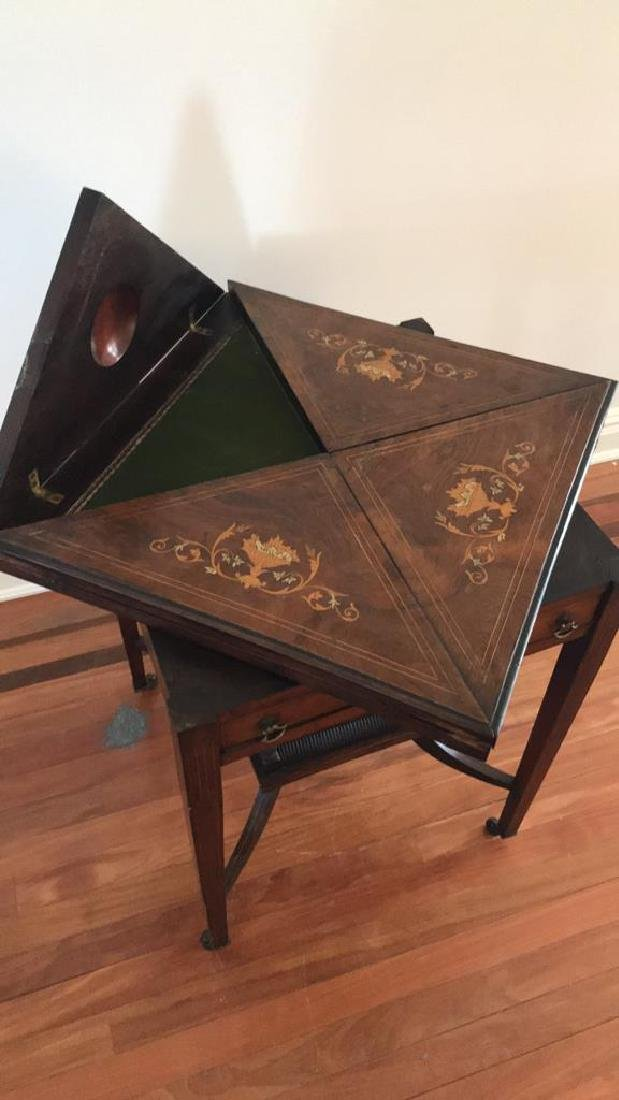 ANTIQUE FLIP TOP GAMING TABLE - 6