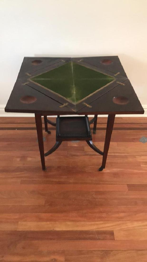 ANTIQUE FLIP TOP GAMING TABLE - 7