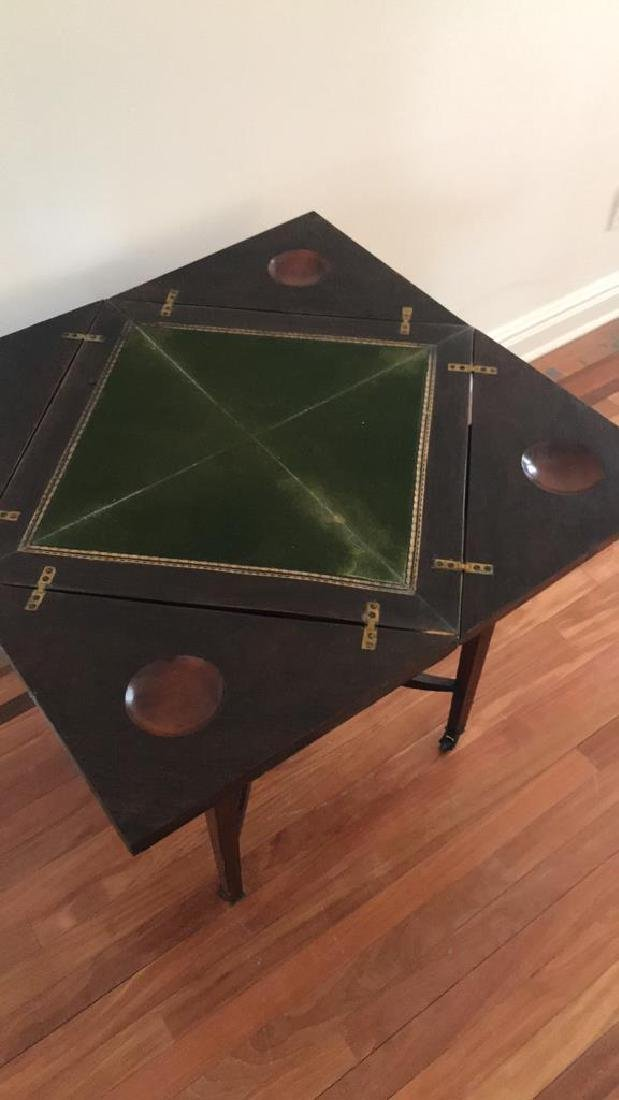ANTIQUE FLIP TOP GAMING TABLE - 8