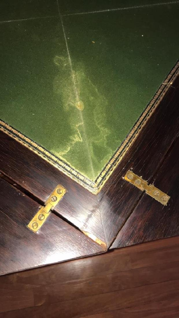 ANTIQUE FLIP TOP GAMING TABLE - 9