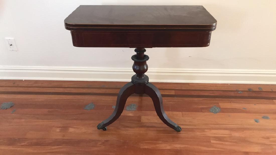 ANTIQUE FLIP TOP CONSOLE TABLE
