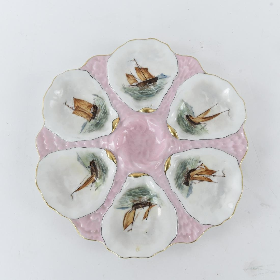 19TH C. FRENCH PORCELAIN OYSTER PLATE