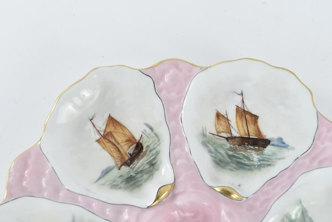 19TH C. FRENCH PORCELAIN OYSTER PLATE - 2