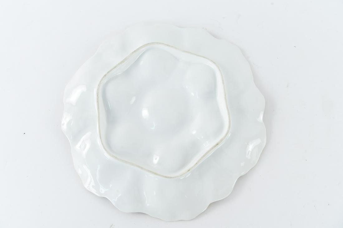 19TH C. FRENCH PORCELAIN OYSTER PLATE - 6