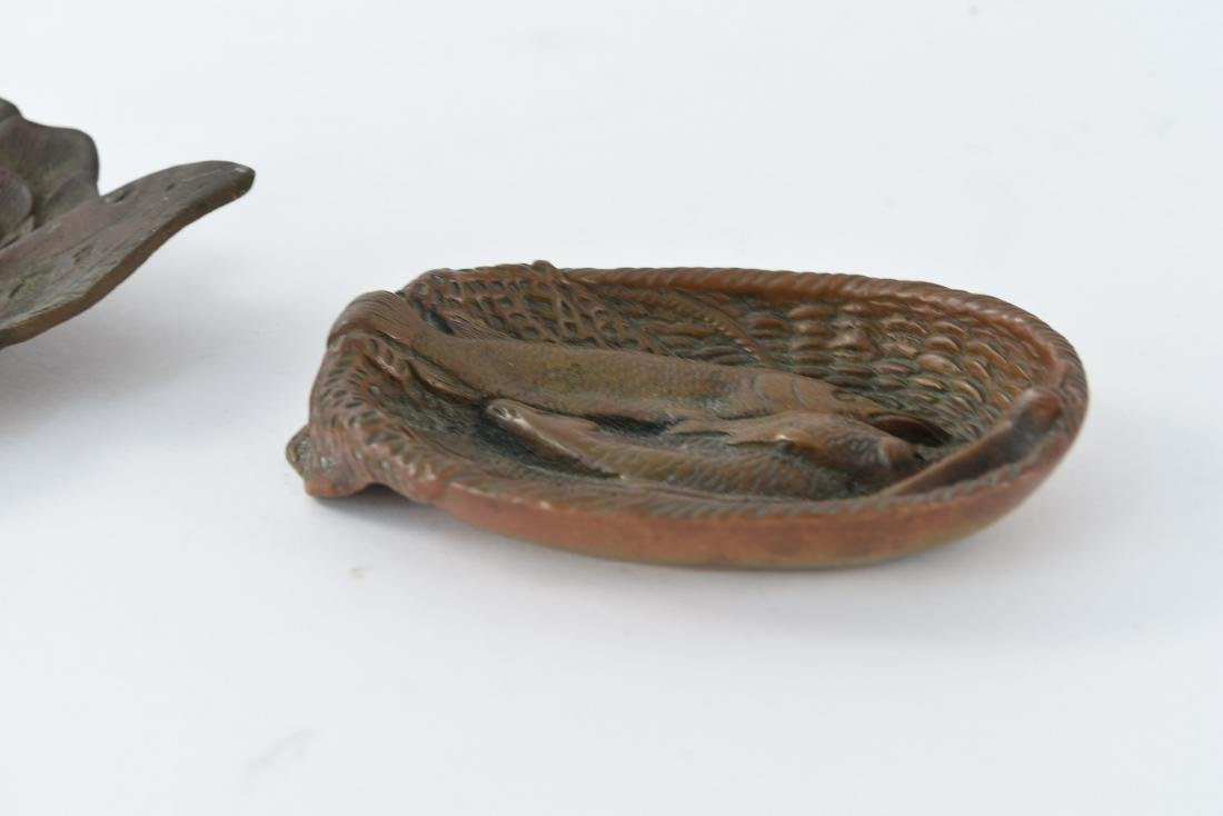 (2) BRASS DISHES INCL. VIRGINIA METALCRAFTERS - 5