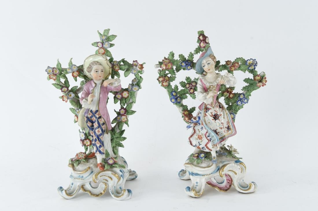 PAIR OF PORCELAIN FIGURES INCL. CHELSEA