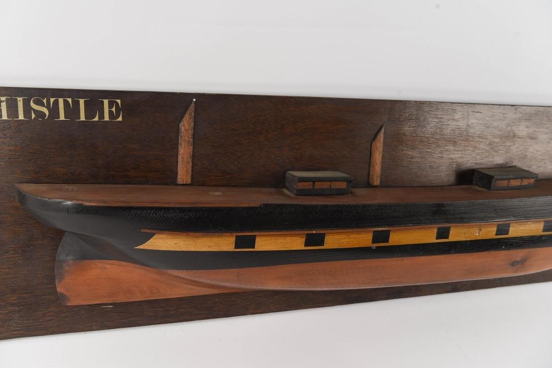 HALF HULL SHIPS DISPLAY MODEL - 3