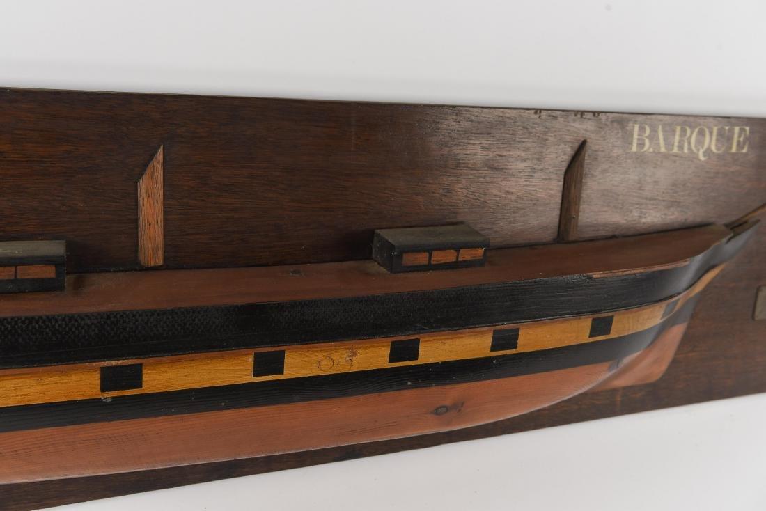 HALF HULL SHIPS DISPLAY MODEL - 5