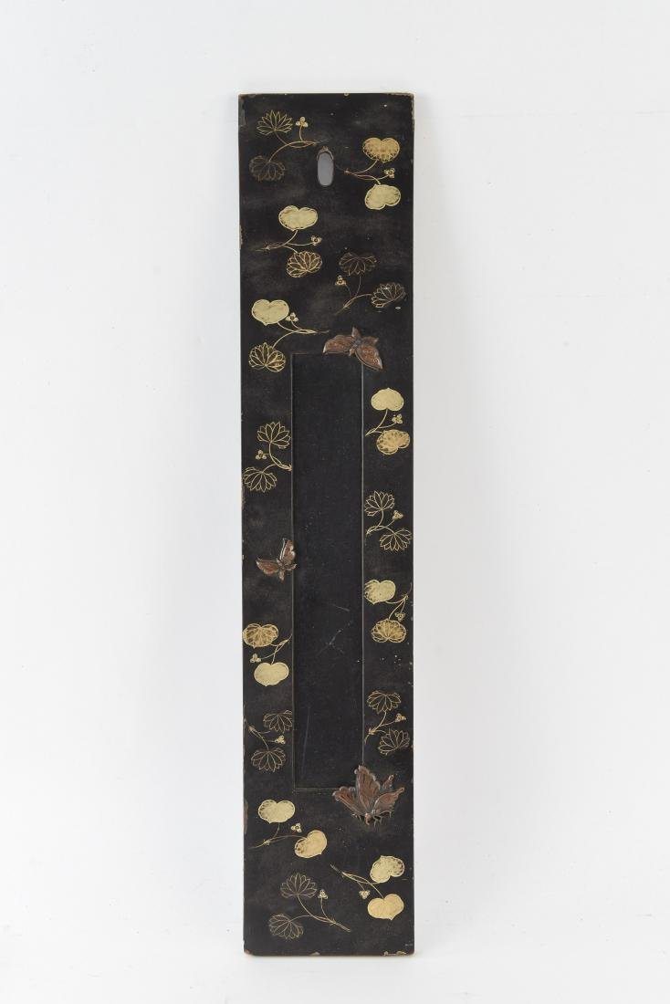 ASIAN GILT AND LACQUERED PANEL