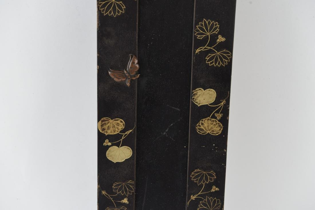 ASIAN GILT AND LACQUERED PANEL - 4