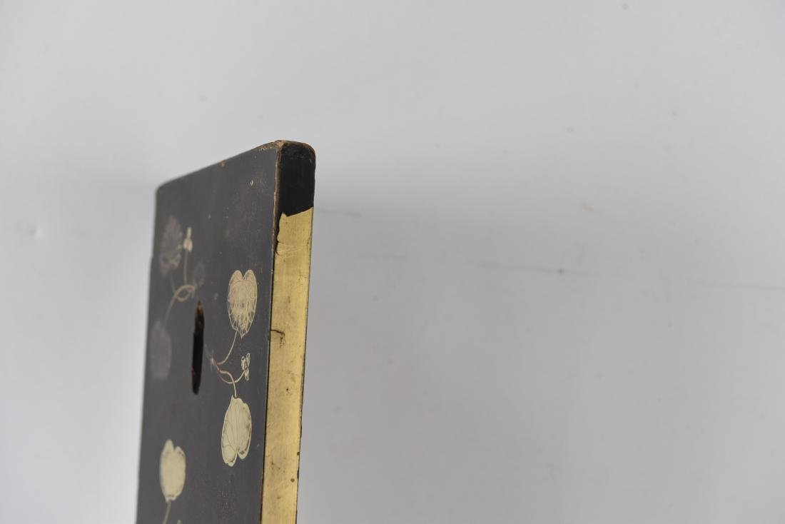 ASIAN GILT AND LACQUERED PANEL - 6