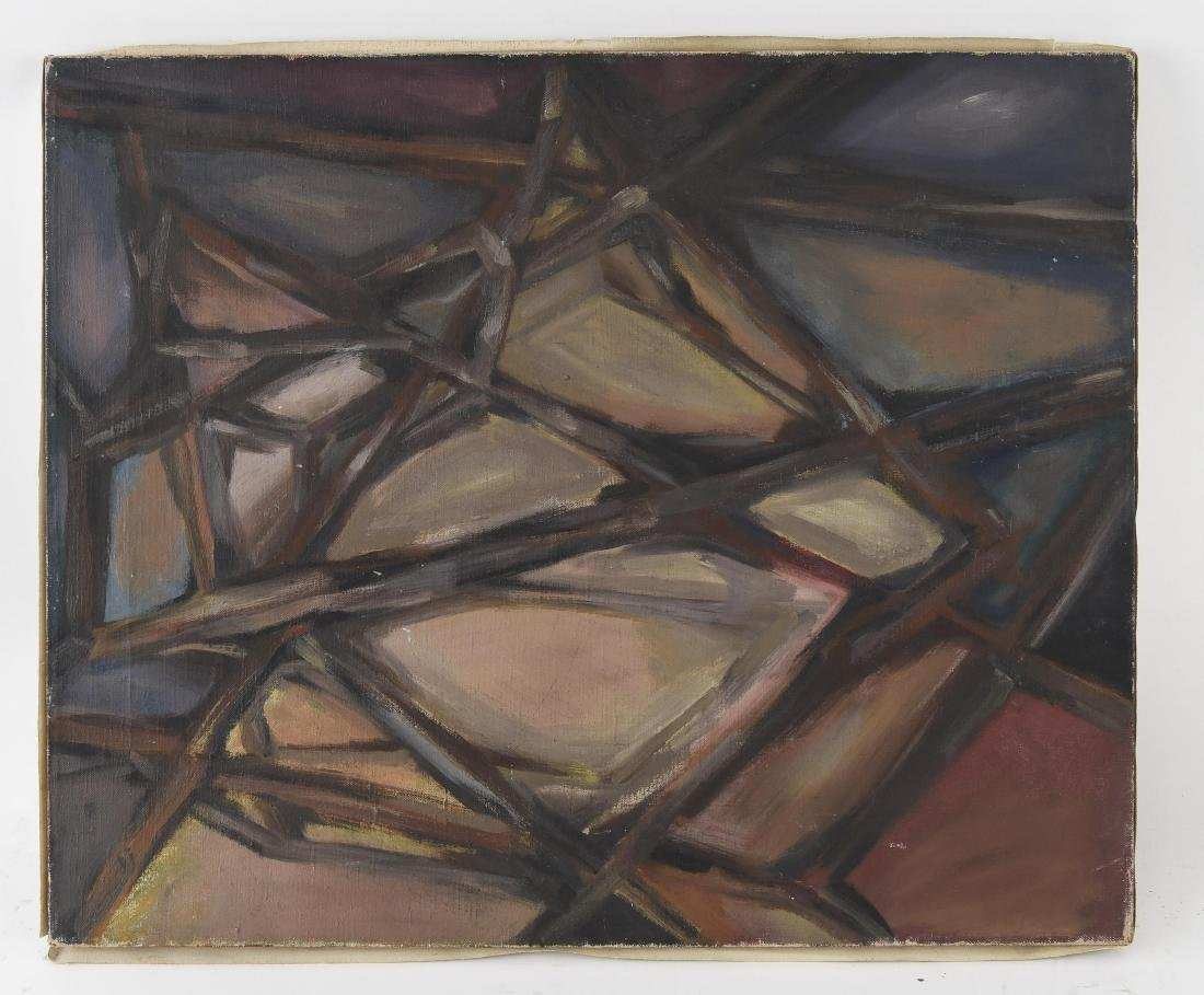20TH CENTURY ABSTRACT O/C PAINTING