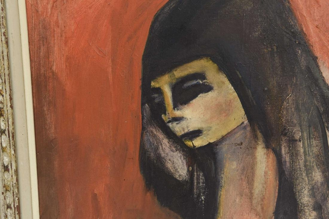 OIL ON BOARD OF ABSTRACT FEMALE FIGURE - 4