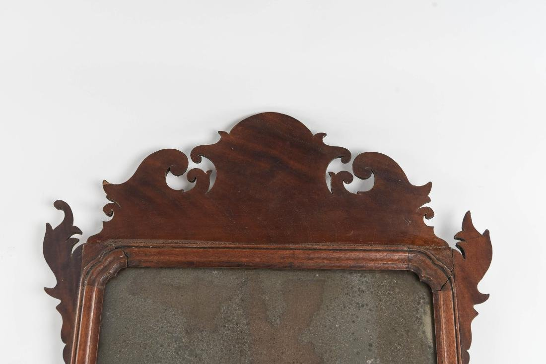ANTIQUE CHIPPENDALE STYLE MIRROR - 2