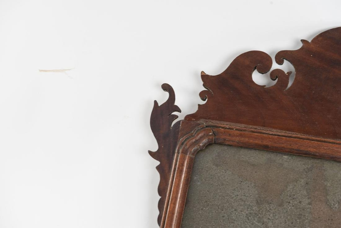 ANTIQUE CHIPPENDALE STYLE MIRROR - 3