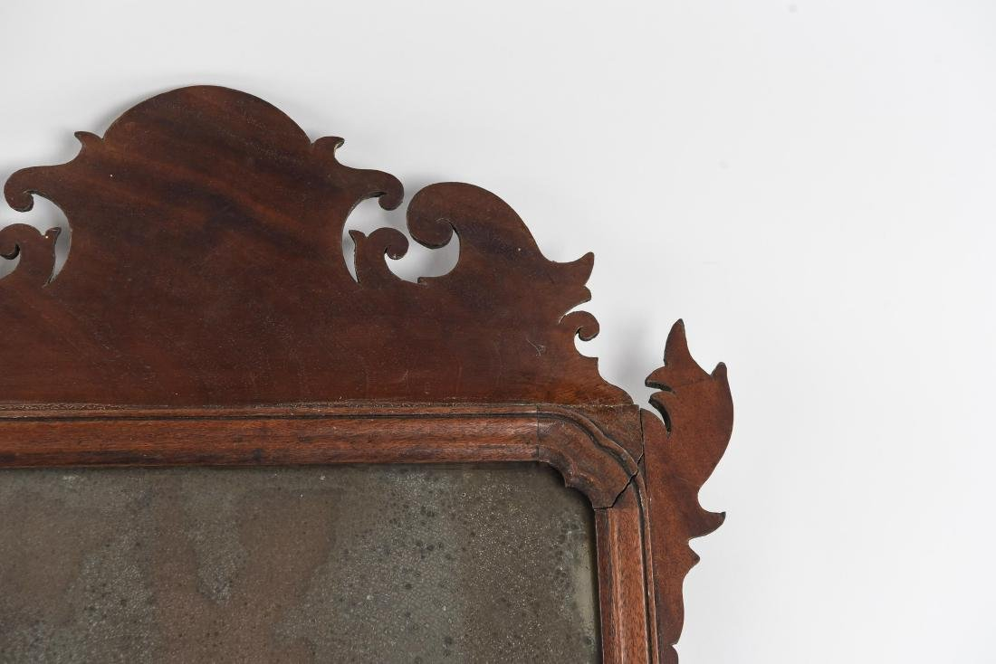 ANTIQUE CHIPPENDALE STYLE MIRROR - 4