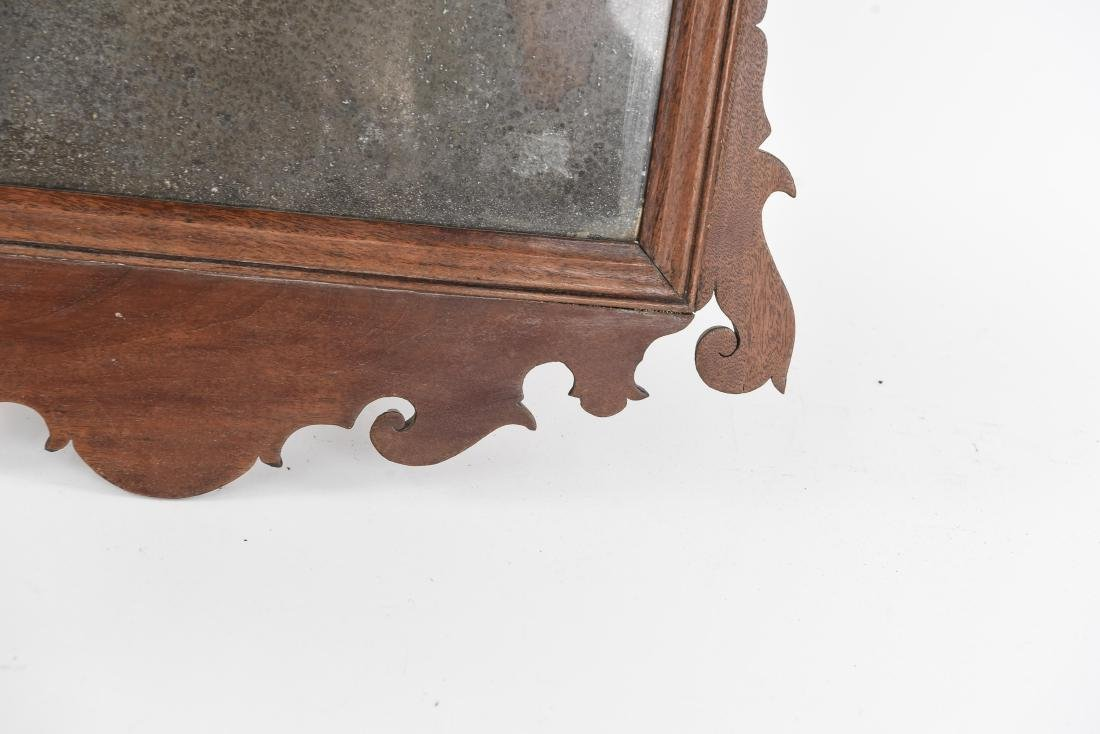 ANTIQUE CHIPPENDALE STYLE MIRROR - 5