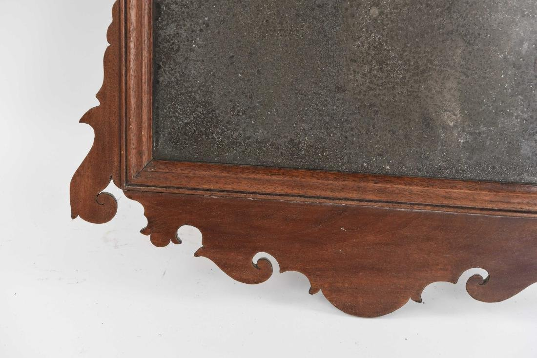 ANTIQUE CHIPPENDALE STYLE MIRROR - 6