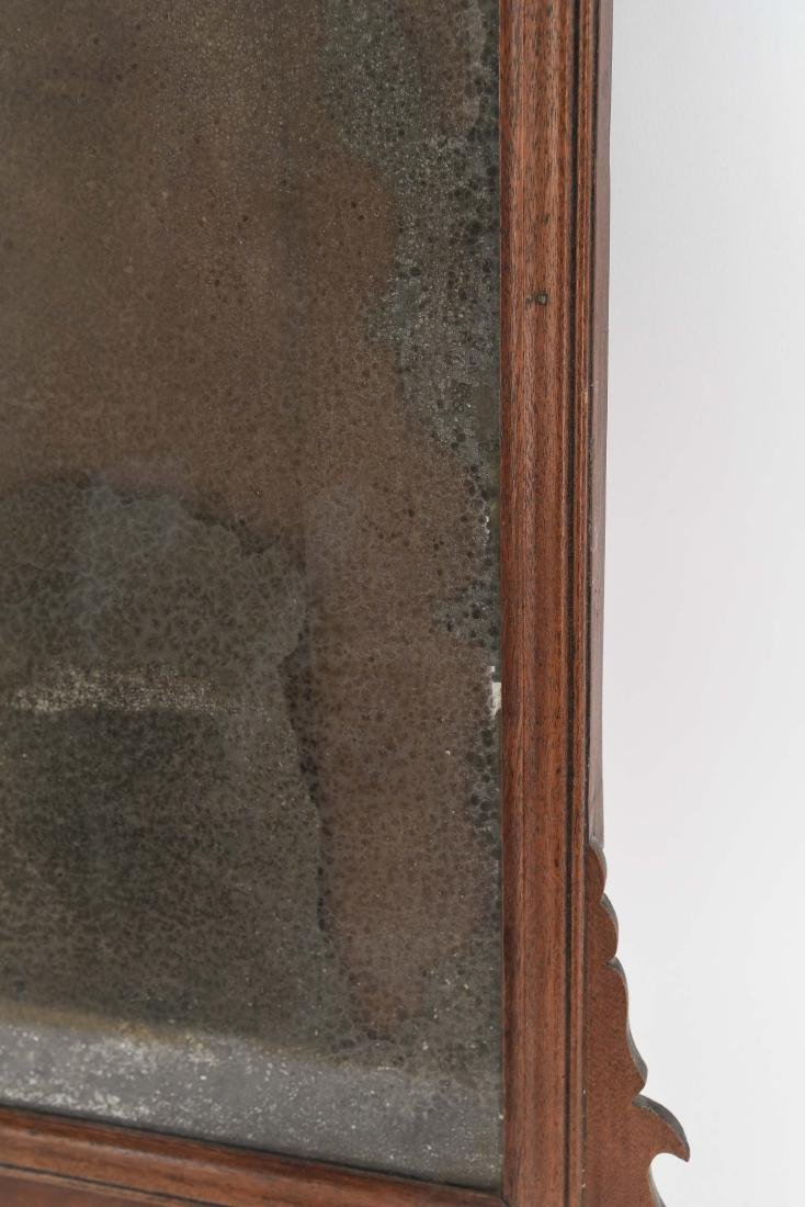 ANTIQUE CHIPPENDALE STYLE MIRROR - 7