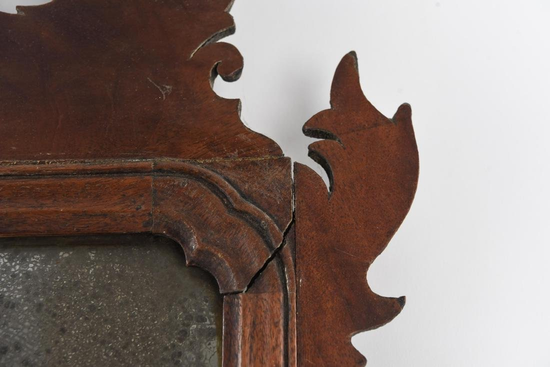 ANTIQUE CHIPPENDALE STYLE MIRROR - 8