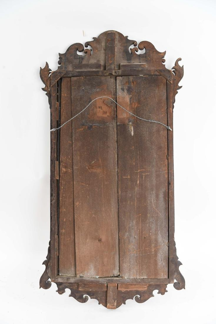 ANTIQUE CHIPPENDALE STYLE MIRROR - 9